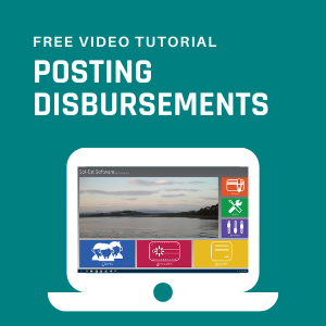 Posting Disbursements