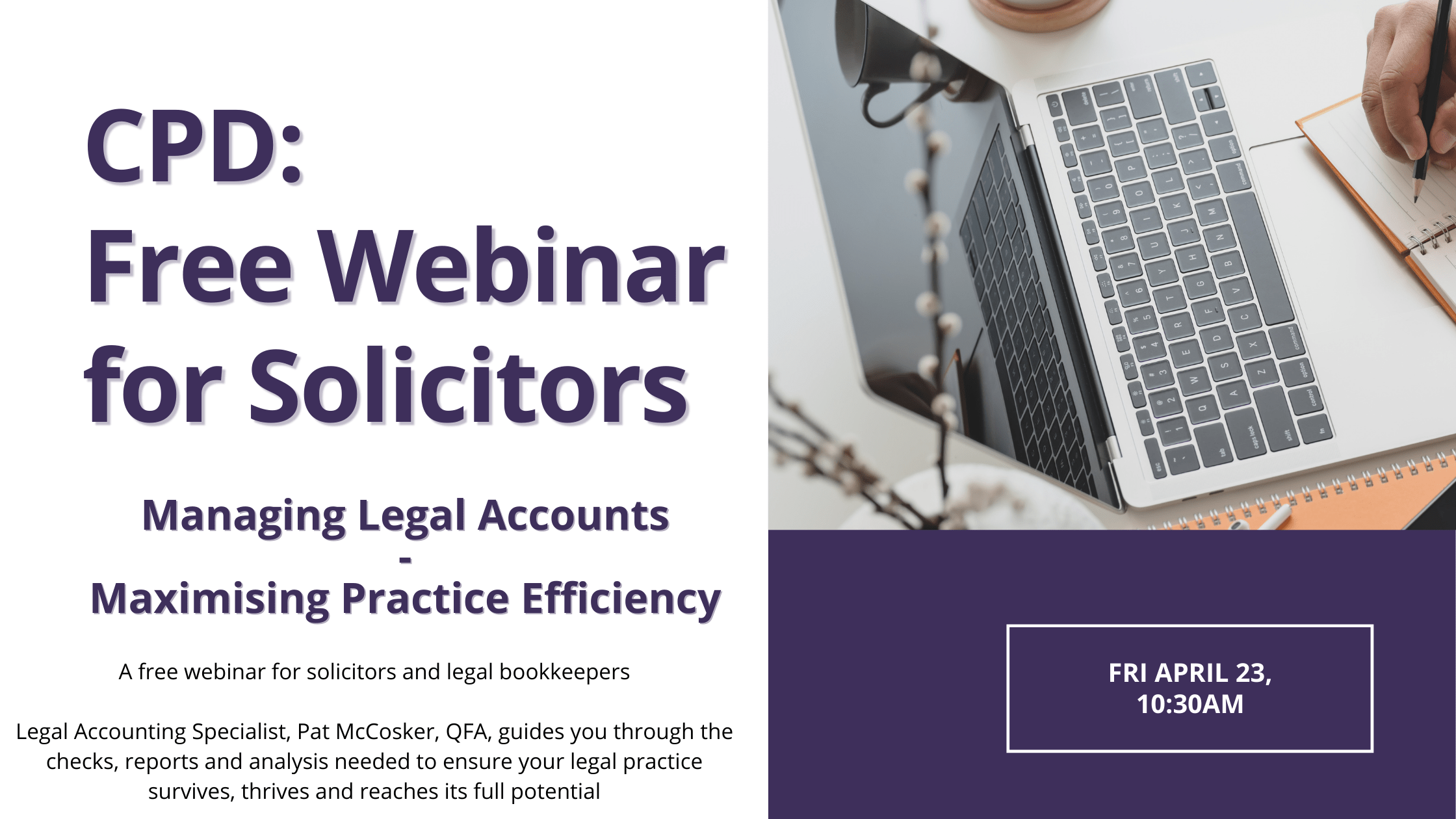 Managing Legal Accounts Maximising Practice Profitability Advert